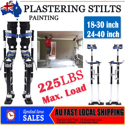 "Plastering Stilts Plaster 18-30"" / 24-40"" Adjustable Drywall Painting Aluminum"
