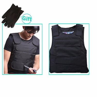 Anti Stab Vest Stabproof Anti-knifed Security Defense Body Armour Men Vest black