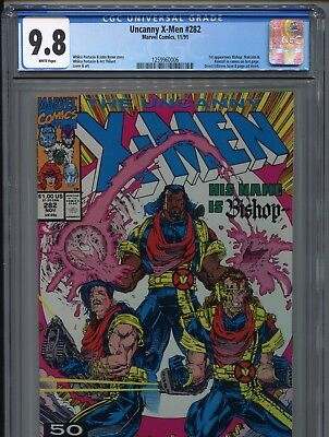 1991 Marvel The Uncanny X-Men #282 1St Appearance Bishop Cgc 9.8 White