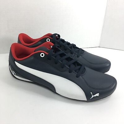 6577bf94466ada PUMA BMW MS DRIFT CAT 5 Shoes Men s 12 NAVY BLUE WHITE Racer Sneaker Laceup  New