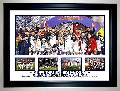Melbourne Victory 2018 A League Champions Photo Collage Soccer Print / Framed