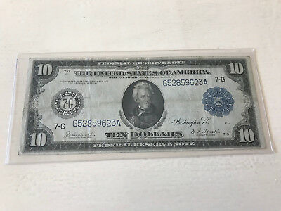 1914 $10 Federal Reserve Note Chicago