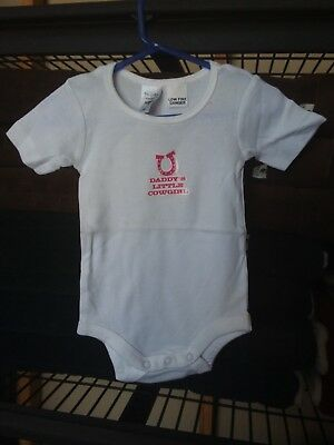 Daddy's Little Cowgirl Babysuit 0000