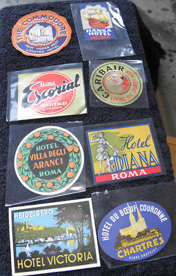 Vintage Travel Stickers (23) Mint Unused Condition!