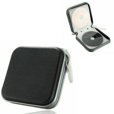 40 CD DVD Carry Case Disc Storage Holder Box CD Sleeve Wallet Ideal for In Car