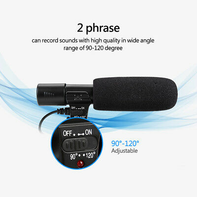 Interview Microphone Video Audio Recording for Canon Nikon DSLR Camera Camcorder