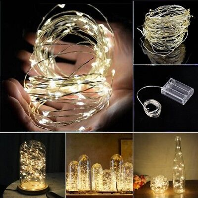 2/5/10 M Battery Powered Copper Wire String Fairy Xmas Party Lights Warm White