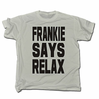 Frankie Says Relax T-SHIRT 80S Fancy Dress Costume retro shirts t-shirts t shirt