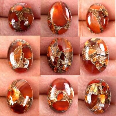 CARNELIAN COPPER MOHAVE Oval Cabochon Gems 1 Pcs Choose From Variation 16x12 mm
