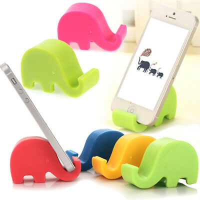 2Pc Universal Fashion Silicone Elephant  Mini Mount Stand Holder For Smart Phone
