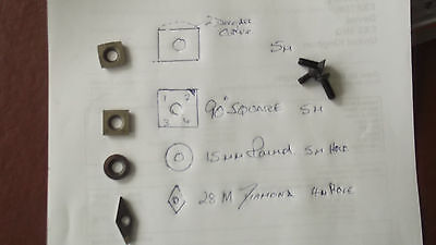 carbide inserts SET  of 4 with perfect grade of carbide mix 130c  grade k10 /c3
