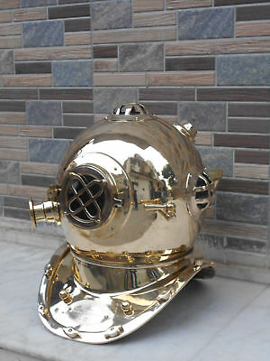 Sea Made Only Solid Brass Maritime Scuba Diving Diver Helmet Diving Replica Gift