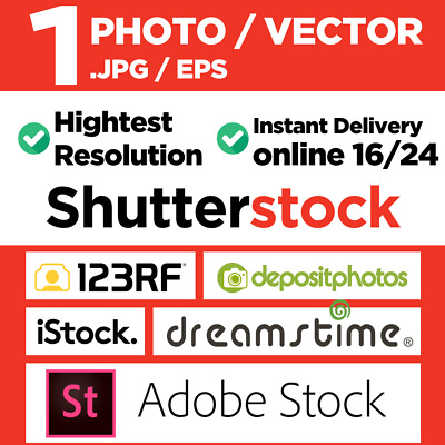 1 Photo stock or Vector Download of your choice - Instant Delivery