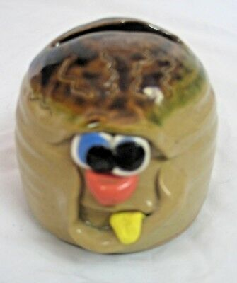 Pottery art money bank PRETTY UGLY POTTERY WALES