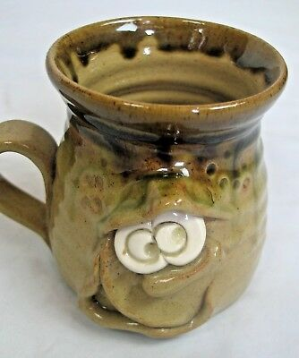 Pottery art drinking mug PRETTY UGLY POTTERY WALES