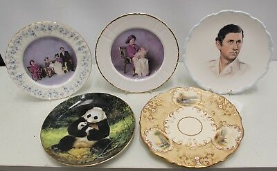 5 Decorative Plates, Royal Memorabila, Queen Mother, Prince Henry, Panda, Views
