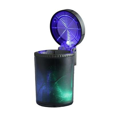 LED Cigarette Smoke Ashtray Ash Cylinder Cup Holder Auto Car Truck Home Office