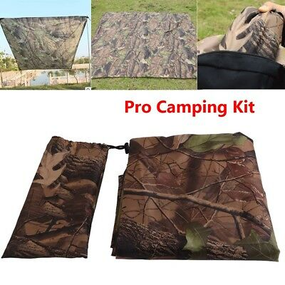 Waterproof Camo Tent Tarp Sheet Canopy Awning Pad Rain Cover Camp Shelter Hiking