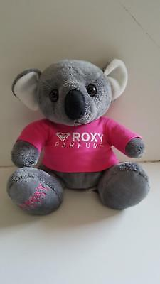 ROXY Parfums grey koala with bright pink t-shirt 24cm when sitting plush toy