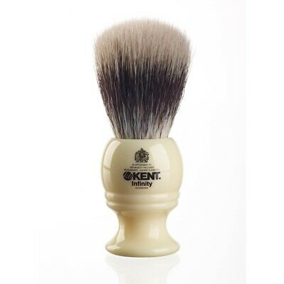 Kent INF1 Silvertex Fully Synthetic Bristle Shaving Brush Traditional Shape