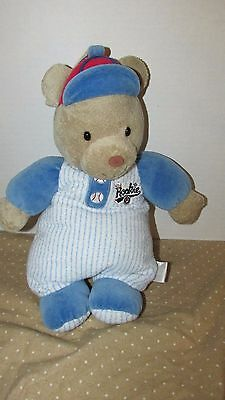 Carters baby plush musical baseball tan teddy bear little Rookie crib hanging