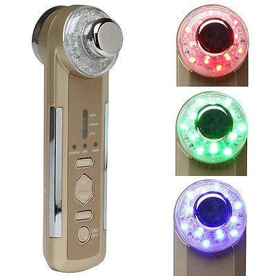 4in1 Facial Massager Photon Ultrasonic LED Electric Body Face Beauty Home Device