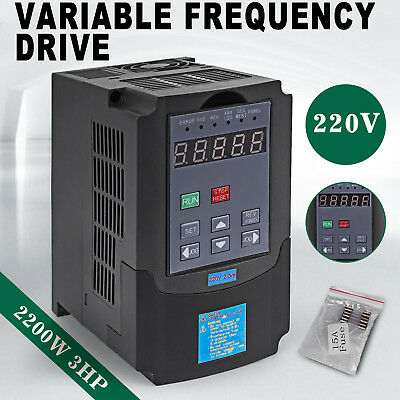 2.2KW 3HP Single Phase Motor Speed Control Variable Frequency Drive Inverter