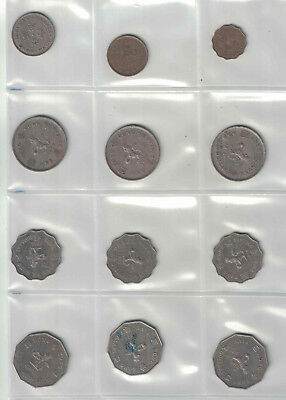 Lot of 12 Hong Kong Coins from the 1970's