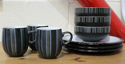 Denby Pottery 9 Piece Service Set Tableware - Plates Bowls Mugs - 254