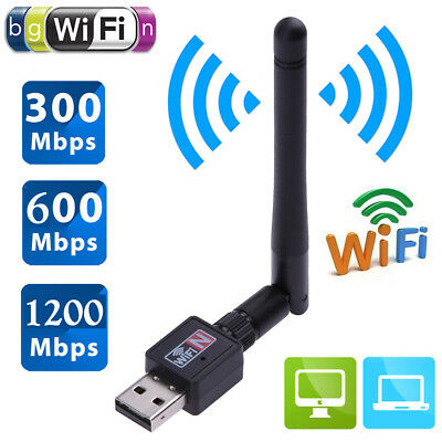 1200Mbps USB Wifi Dongle Router Wireless Adapter Network LAN Card w/ Antenna Lot