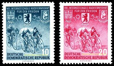EBS East Germany DDR 1955 Bicycle Rally for Peace Michel 470-471 MNH**