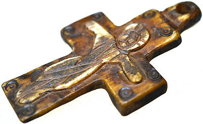 Byzantine Bone Christian Cross Pendant