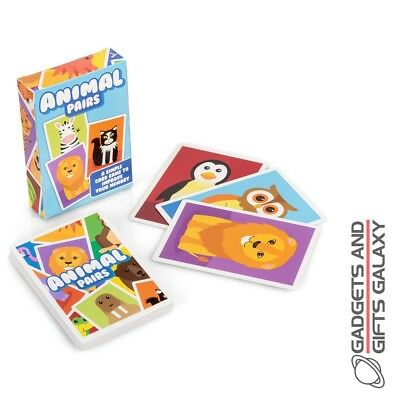 Animal Pairs Card Game Snap Kids Childs Deck Colourful Pre School Fun Play