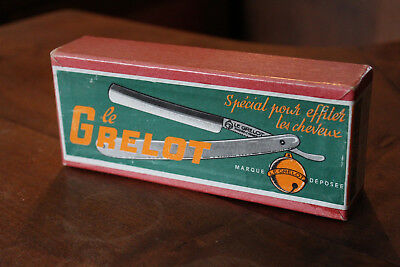 Ancienne Boite PLV Rasoirs Coupe-Choux Le GRELOT Vintage Straight Razor Outer