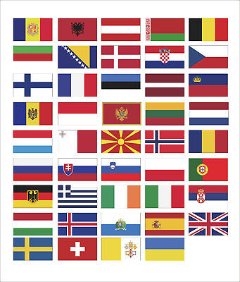 Europe Flag Collection 3M Graphics Vinyl self-adhesive Decals Sticker Car Decor