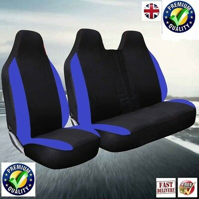 VAUXHALL VIVARO 2011 DELUXE BLUE RACING VAN SEAT COVERS 2+1