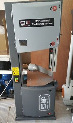"""SIP 01444 14"""" Heavy Duty Bandsaw (2hp) - (Working, parts missing)"""
