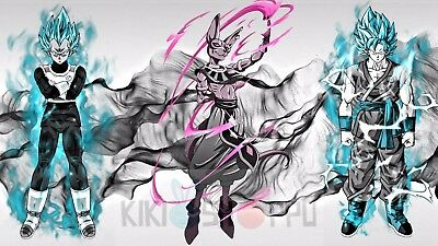 Poster 42x24 cm Dragon Ball Super Goku Super Saiyan God Blue Manga Anime 04