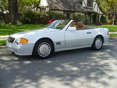 1991 Mercedes-Benz SL-Class WHITE Gorgeous California Rust Free Mercedes Benz 300SL Convertible 63,000 Miles