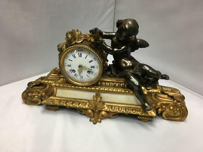 French 8 Day Striking Mantel Clock By Japy Freres Of Paris