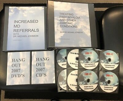 Chiropractic neurology Chronic Conditions program DVDs/CDs/Manual Dr Johnson WOW