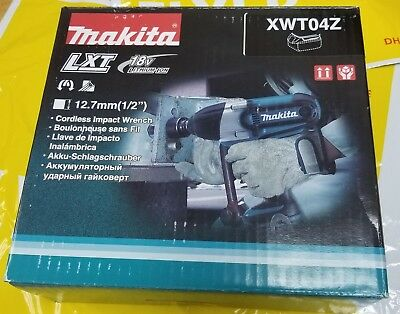 Makita XWT04Z 18-Volt LXT Lithium-Ion 1/2-Inch High Torque Impact Wrench in Box