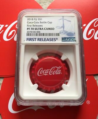 NGC PF70 2018 Fiji Coca-Cola Bottle Cap $1 6g Silver Proof Coin First Release RR