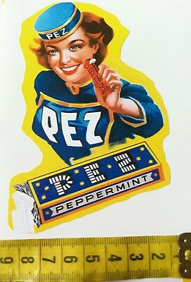 PEZ Peppermint Aufkleber Emaile TOP Old and New 18 Stück