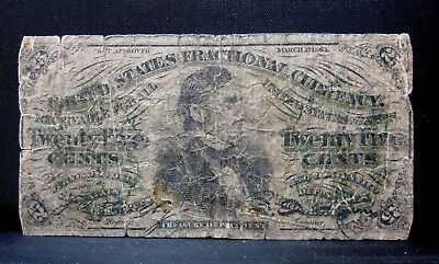 CONTEMPORARY COUNTERFEIT United States Fractional 25 cents note