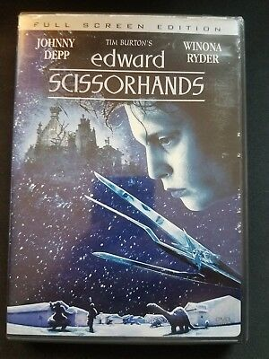 Edward Scissorhands (DVD, 1990 Release, Full Screen) stars Johnny Depp!