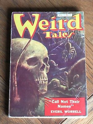 Weird Tales UK reprint digest pulp Vol.1 No.4 - Everil Worrell, Dorothy Quick