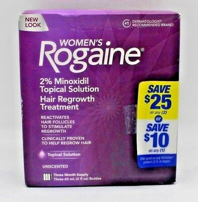 Rogaine Womens Hair Regrowth Treatment Unscented 3 Month Supply exp 5/2021. NEW