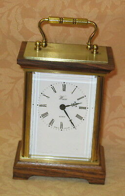Good Quality Weiss Heavy Brass & Wood Quartz Carriage Clock - MADE IN ENGLAND