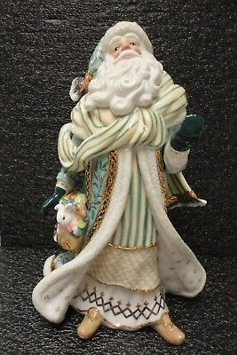 Fitz And Floyd Gregorian Porcelain Santa, 1St Edition